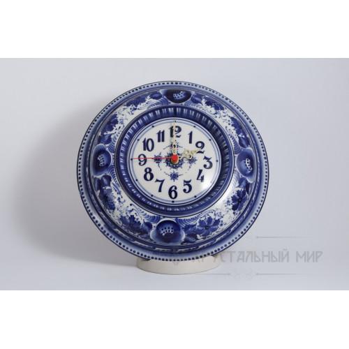 Часы Гжельский узор