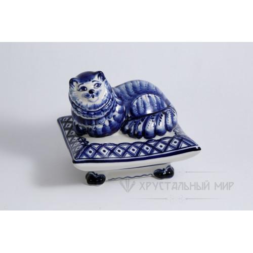 Шкатулка Кот на подушке авт. Симонов